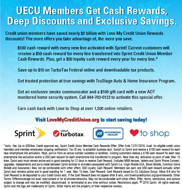 UECU's Love My Credit Union Rewards Program